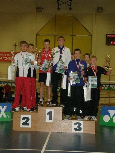 Złoto, srebro i brąz lublinieckich badmintonistów na Mistrzostwach Polski Młodzików !!!