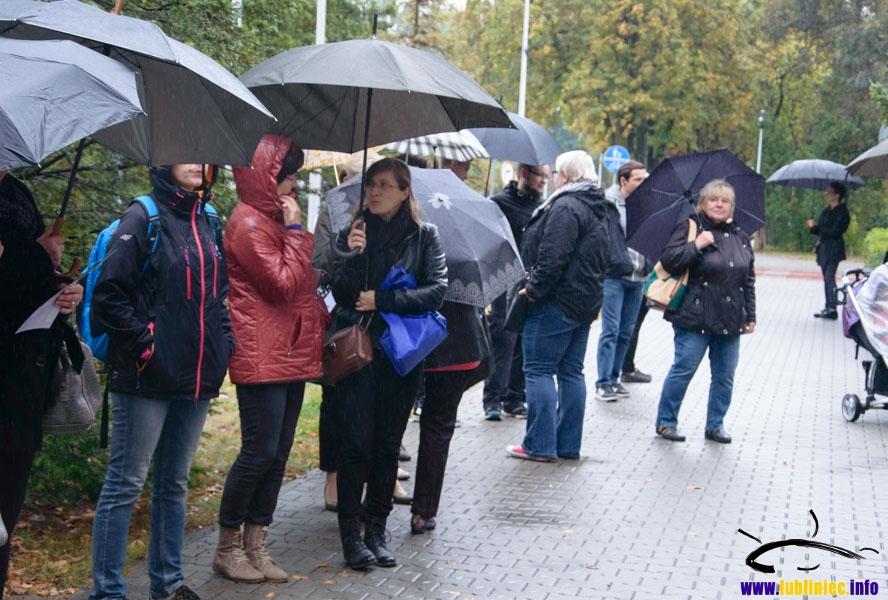 Czarny protest w Lublińcu