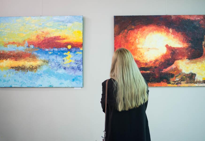 Malarstwa studentów AJD w Częstochowie