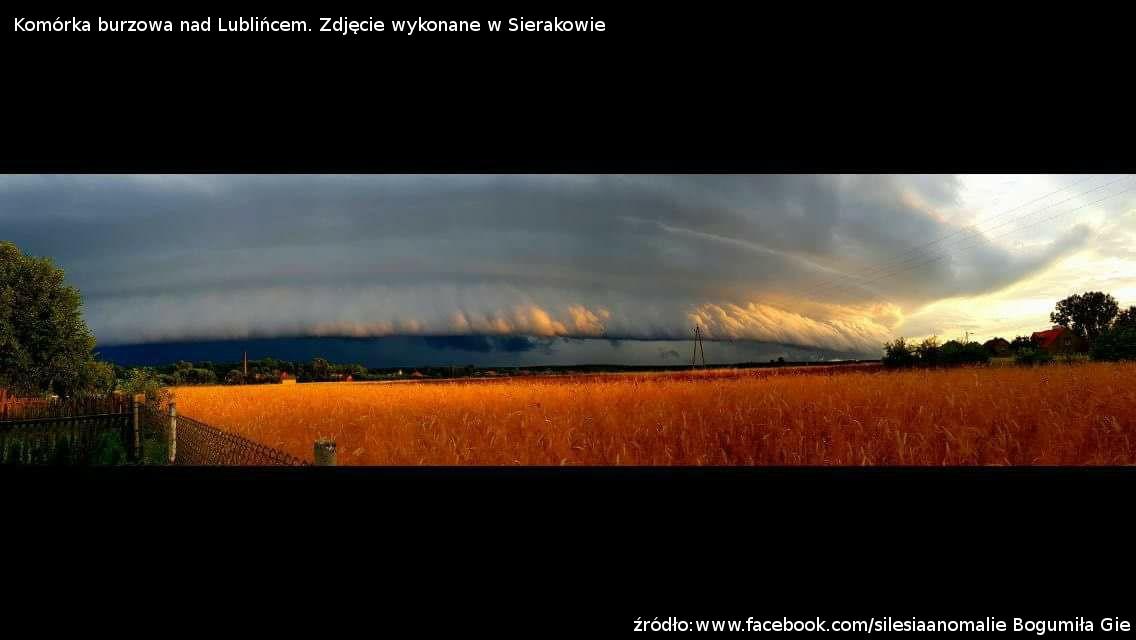 Burza nad Lublińcem 10 lipca 2017