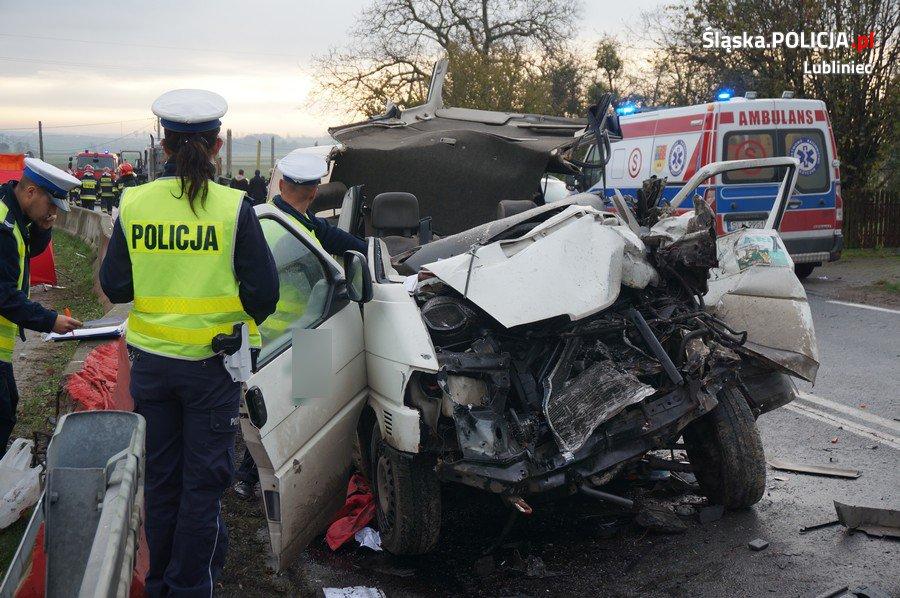 Wypadek w Glinicy 26 października 2017