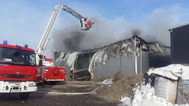Pożar w zakładzie Makpol w strefie ekonomicznej w Lublińcu