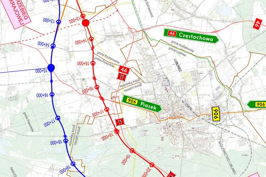 Budowa drogi ekspresowej S11 - MAPY MAPA
