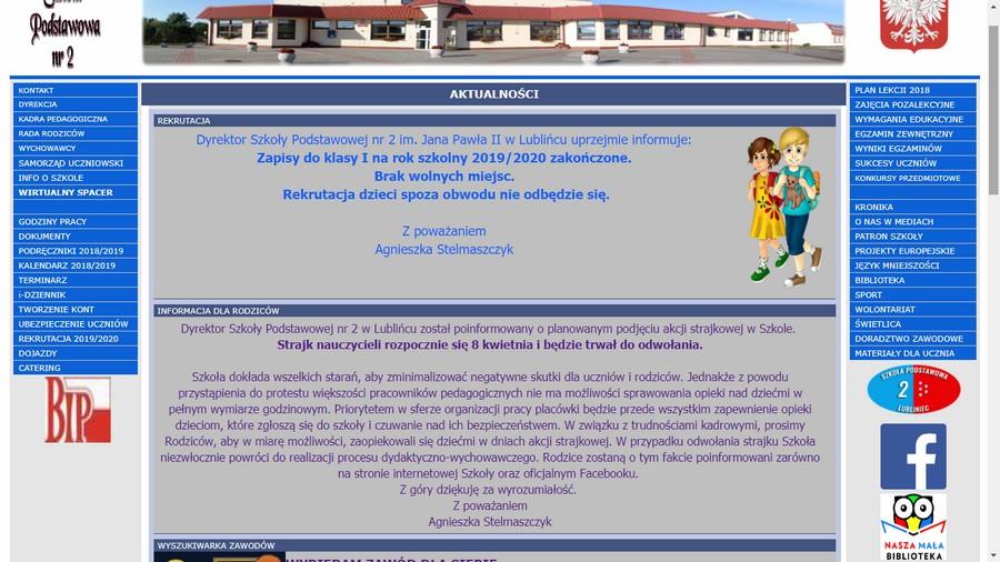 Lublinieckie szkoły informują o strajku nauczycieli