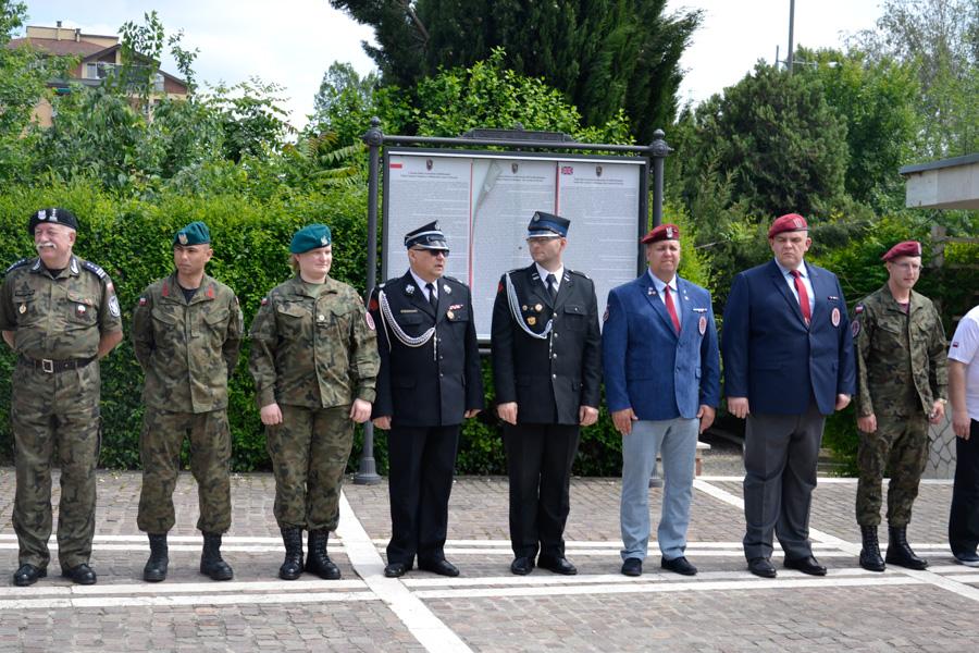 OSP Lubliniec i OSP Strzebiń zabezpieczali obchody 75 Rocznicy Bitwy pod Monte Casino