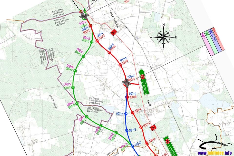 Budowa drogi S11 - nowe mapy projektowe z 12 listopada 2020