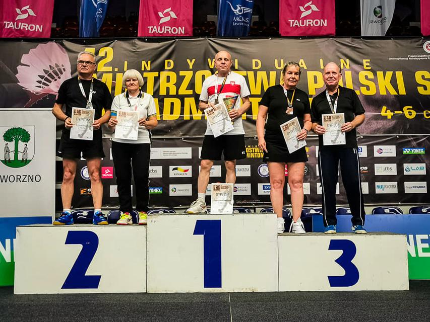 Medale lublinieckich badmintonistów na Mistrzostwach Polski Seniorów