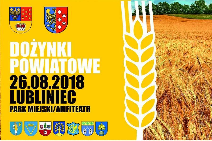 Dożynki Powiatowe 2018 w Lublińcu - program