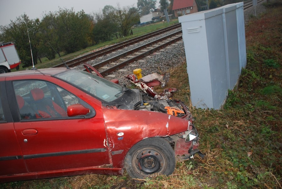 Zderzenie samochodu z pociągiem