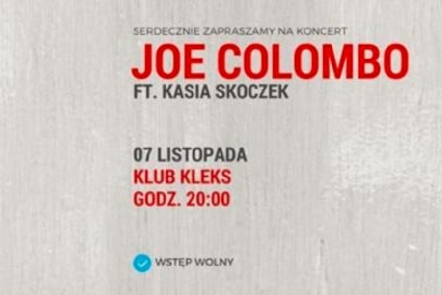 Koncert Joe Colombo feat Kasia Skoczek